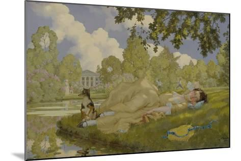 Sleeping Woman in a Park, 1922-Konstantin Andreyevich Somov-Mounted Giclee Print