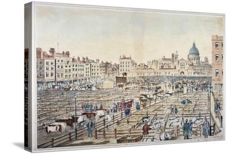 Smithfield Market, City of London, 1855--Stretched Canvas Print
