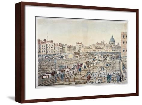 Smithfield Market, City of London, 1855--Framed Art Print