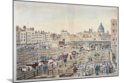 Smithfield Market, City of London, 1855--Mounted Giclee Print