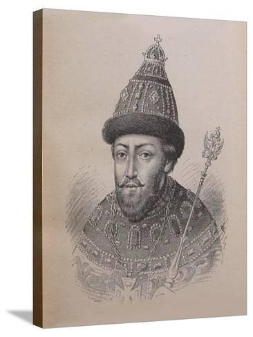 Portrait of the Tsar Michail I Fyodorovich of Russia (1596-164)--Stretched Canvas Print
