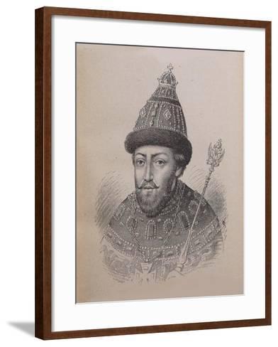 Portrait of the Tsar Michail I Fyodorovich of Russia (1596-164)--Framed Art Print