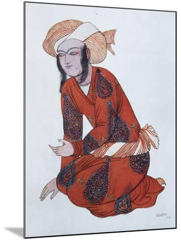Costume Design for the Ballet Sheherazade, 1922-L?on Bakst-Mounted Giclee Print