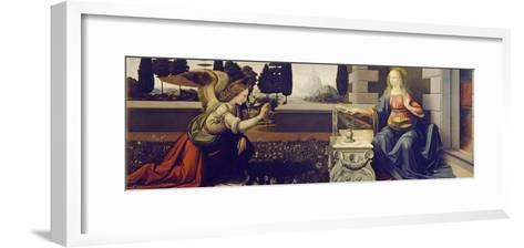 The Annunciation, Ca 1471-1472-Leonardo da Vinci-Framed Art Print