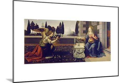 The Annunciation, Ca 1471-1472-Leonardo da Vinci-Mounted Giclee Print