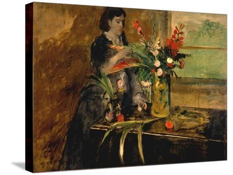 Portrait of Estelle Musson Degas, 1872-Edgar Degas-Stretched Canvas Print