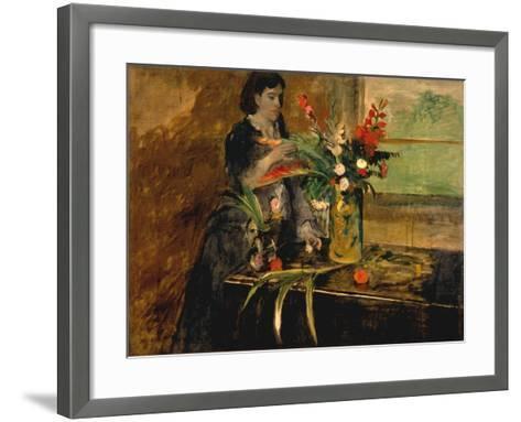 Portrait of Estelle Musson Degas, 1872-Edgar Degas-Framed Art Print
