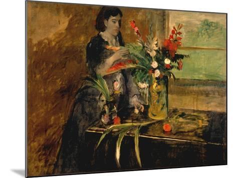 Portrait of Estelle Musson Degas, 1872-Edgar Degas-Mounted Giclee Print