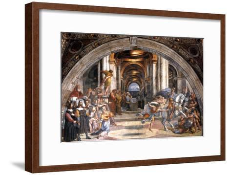 The Expulsion of Heliodorus, 1511-1512-Raphael-Framed Art Print