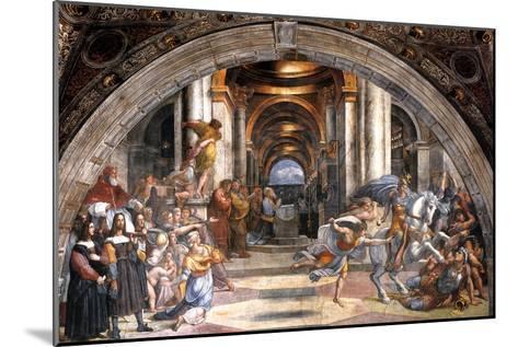 The Expulsion of Heliodorus, 1511-1512-Raphael-Mounted Giclee Print
