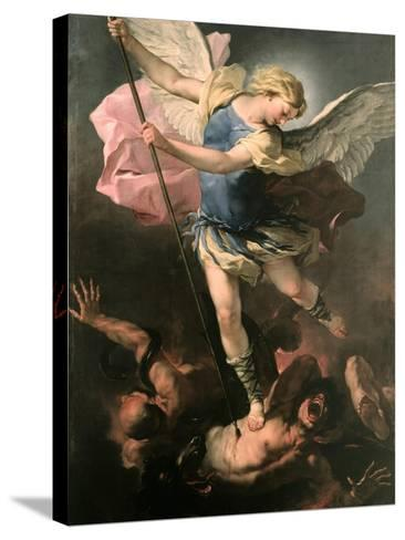 Saint Michael the Archangel, Ca 1663-Luca Giordano-Stretched Canvas Print