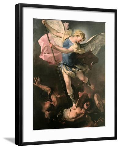 Saint Michael the Archangel, Ca 1663-Luca Giordano-Framed Art Print