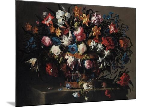 Small Basket of Flowers, 1671-Juan de Arellano-Mounted Giclee Print
