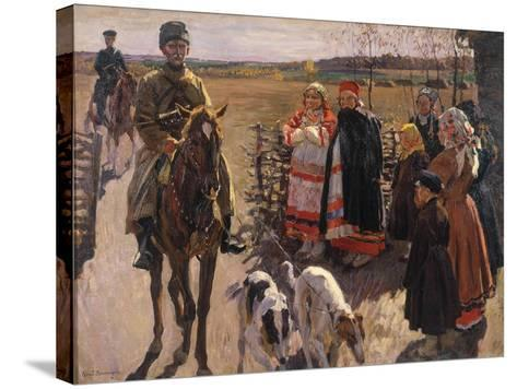 Huntsmen with Borzois, 1913-Sergei Arsenyevich Vinogradov-Stretched Canvas Print