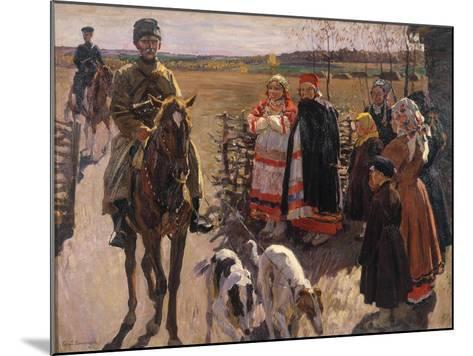 Huntsmen with Borzois, 1913-Sergei Arsenyevich Vinogradov-Mounted Giclee Print