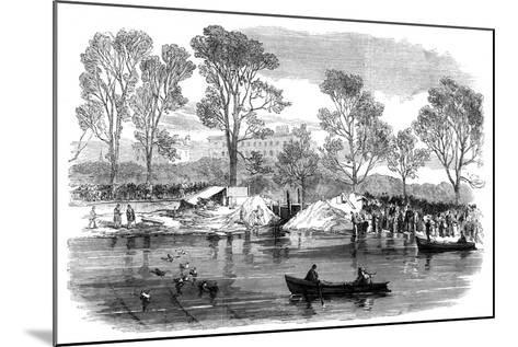 Draining the Serpentine River, Hyde Park, London, 1869--Mounted Giclee Print