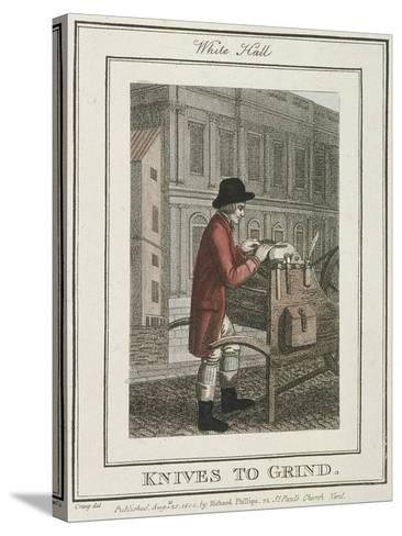 Knives to Grind, Cries of London, 1804-William Marshall Craig-Stretched Canvas Print