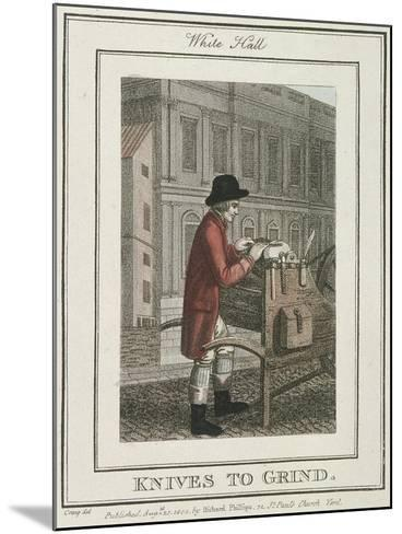 Knives to Grind, Cries of London, 1804-William Marshall Craig-Mounted Giclee Print