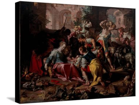 The Adoration of the Shepherds, 1598-Joachim Wtewael-Stretched Canvas Print