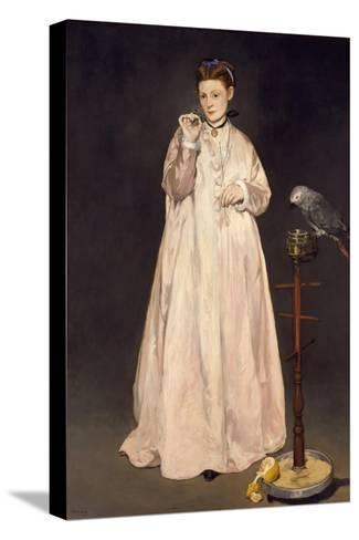Young Lady in 1866, 1866-Edouard Manet-Stretched Canvas Print