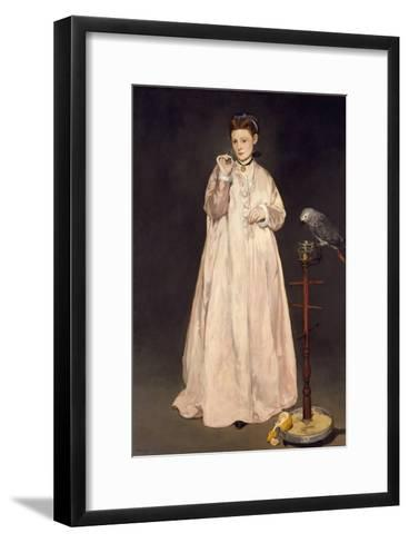 Young Lady in 1866, 1866-Edouard Manet-Framed Art Print
