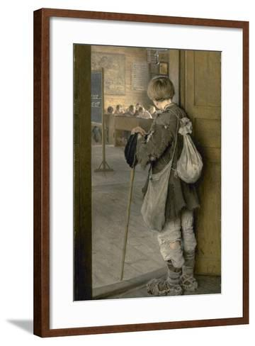 At the School Door, 1897-Nikolai Petrovich Bogdanov-Belsky-Framed Art Print