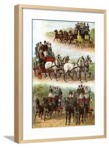 Celebrated Teams in the Park, 1887--Framed Art Print