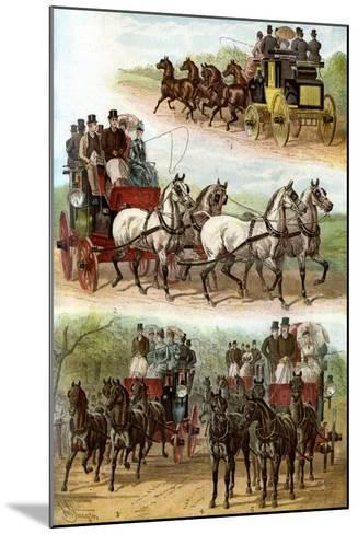 Celebrated Teams in the Park, 1887--Mounted Giclee Print