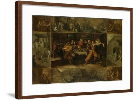 He Parable of the Prodigal Son, 1620-Frans Francken the Younger-Framed Art Print