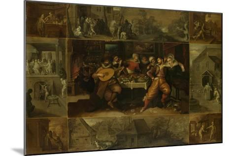 He Parable of the Prodigal Son, 1620-Frans Francken the Younger-Mounted Giclee Print