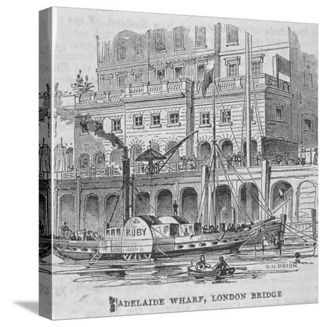 Adelaide Wharf, London Bridge, 1840-William Henry Prior-Stretched Canvas Print