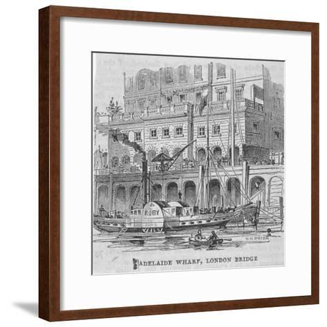 Adelaide Wharf, London Bridge, 1840-William Henry Prior-Framed Art Print