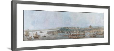 Panorama of Sarayburnu, Late 18th Cent.-Louis-François Cassas-Framed Art Print
