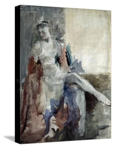 Portrait of the Ballet Dancer Irina Tichomirnova (1917-198), 1947-Artur Vladimirovich Fonvizin-Stretched Canvas Print