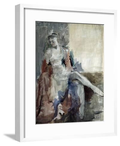 Portrait of the Ballet Dancer Irina Tichomirnova (1917-198), 1947-Artur Vladimirovich Fonvizin-Framed Art Print