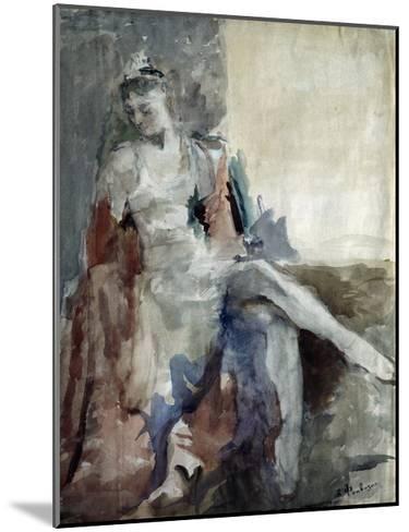 Portrait of the Ballet Dancer Irina Tichomirnova (1917-198), 1947-Artur Vladimirovich Fonvizin-Mounted Giclee Print