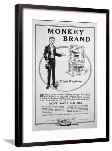 Advert for Brooke's Monkey Brand Soap, 1918--Framed Art Print