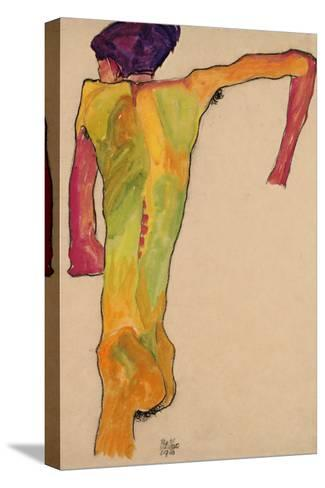 Male Nude, Propping Himself Up, 1910-Egon Schiele-Stretched Canvas Print
