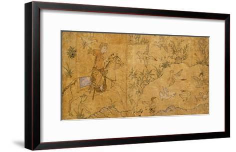 Mounted Falconer Hunting Ducks, C.1420--Framed Art Print