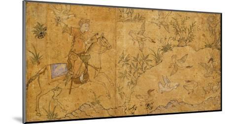 Mounted Falconer Hunting Ducks, C.1420--Mounted Giclee Print