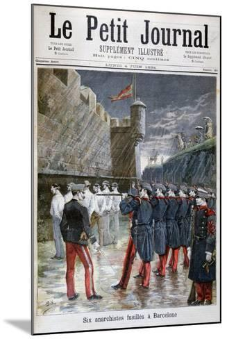 Six Anarchists Executed in Barcelona, 1894--Mounted Giclee Print