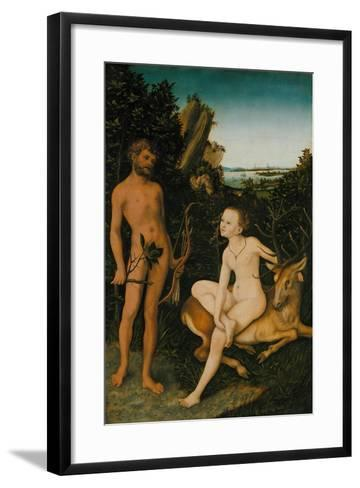 Landscape with Apollo and Diana, 1530-Lucas Cranach the Elder-Framed Art Print