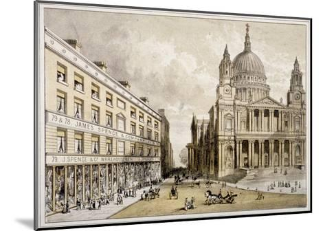 Premises of James Spence and Co, Warehousemen, 76-79 St Paul's Churchyard, City of London, 1850--Mounted Giclee Print