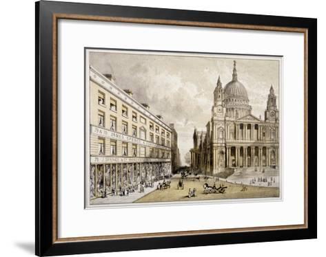 Premises of James Spence and Co, Warehousemen, 76-79 St Paul's Churchyard, City of London, 1850--Framed Art Print