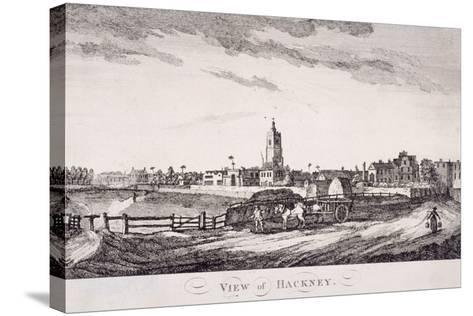 General View of Hackney, London, C1800--Stretched Canvas Print