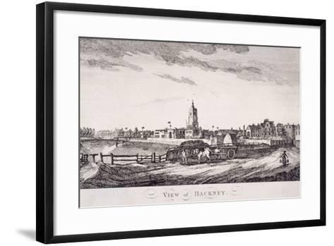 General View of Hackney, London, C1800--Framed Art Print