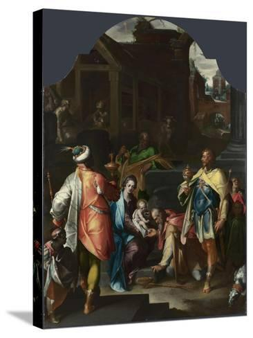 The Adoration of the Kings, Ca 1595-Bartholomeus Spranger-Stretched Canvas Print