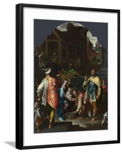 The Adoration of the Kings, Ca 1595-Bartholomeus Spranger-Framed Art Print