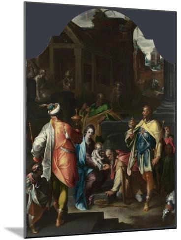 The Adoration of the Kings, Ca 1595-Bartholomeus Spranger-Mounted Giclee Print