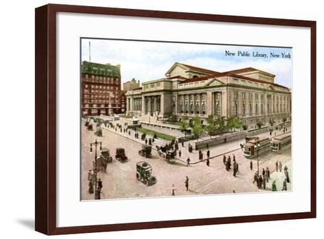 The New Public Library, New York, USA, 1910--Framed Art Print